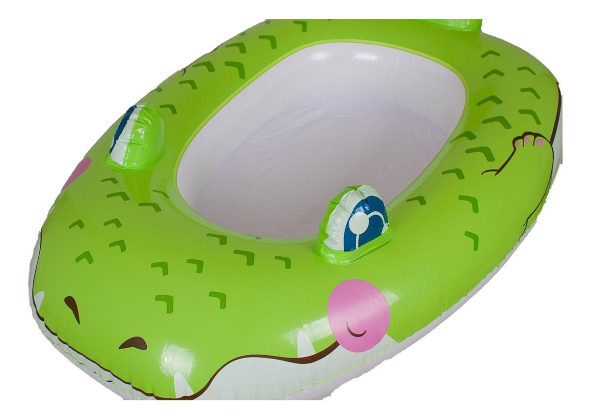 tierisches babyboot schlauchboot f r kleinkinder krokodil zum aufblasen ebay. Black Bedroom Furniture Sets. Home Design Ideas